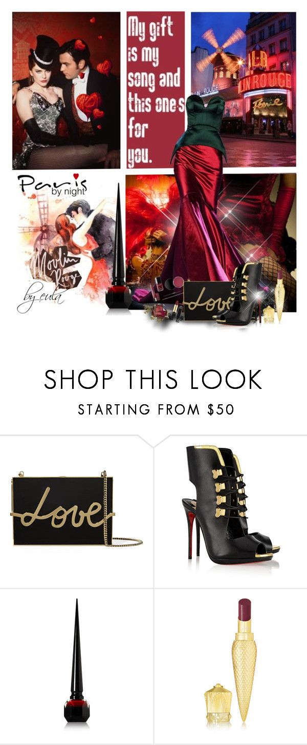 """""""Moulin Rouge in Paris"""" by eula-eldridge-tolliver ❤ liked on Polyvore featuring Lanvin, Christian Louboutin, christianlouboutin and lavin"""