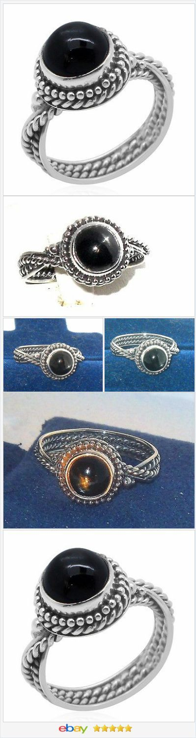 Black Star Diopside ring 3.00 ctw size 9 Sterling USA Seller #EBAY http://stores.ebay.com/JEWELRY-AND-GIFTS-BY-ALICE-AND-ANN