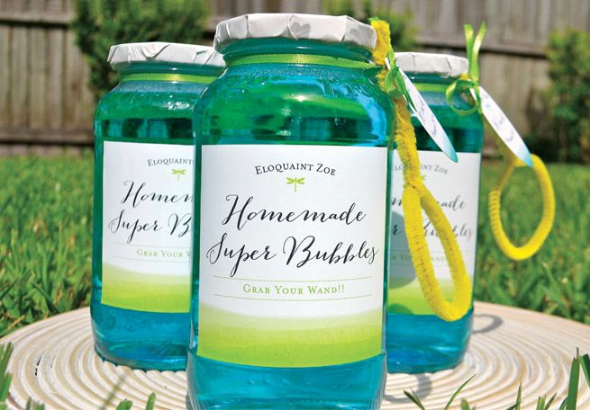 Homemade Super Bubbles from My Own Ideas blog  These use corn syrup and not glycerin!  In my opinion, not as good and keep away from cars!  Will mark them up!