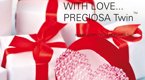 PRECIOSA ORNELA has prepared a manual for the preparation of a Valentine heart using PRECIOSA Twin™ seed beads for people who are interested in original gifts which have been handmade using Czech seed beads.