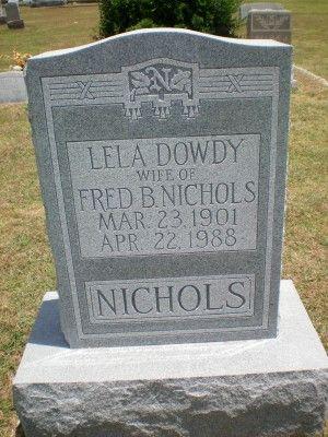Lela Dowdy Nichols (1901 - 1988) - Find A Grave Photos