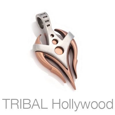 ALEXANDER+COPPER+And+SILVER+Dagger+Mens+Tribal+Pendant+by+Bico