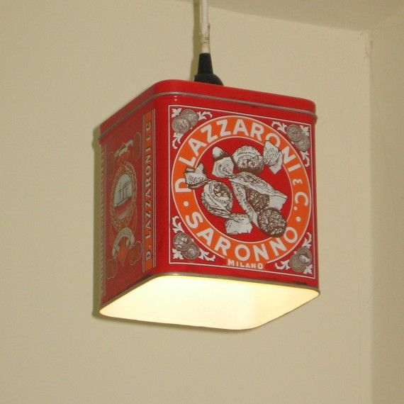 Italian Biscotti Tin Pendent Light - @Laura Collins - I think you need to have these!