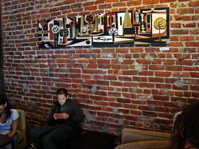 Treez by Brian Barneclo. Photographed at District Wine Bar, San Francisco (now on display in my home)