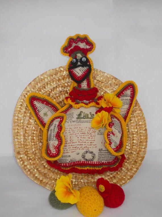 Мягкие игрушки Вязаные игрушки Желтый Hen рождественские подарки от Monpasier