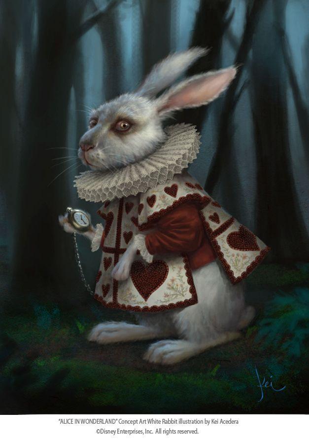 Алиса в стране чудес кролик картинка
