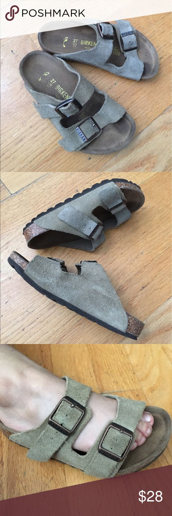 🎉SALE🎉Birkenstock kids Sandals Very cute Sandals. In good condition. Great for the summer. Size 27. One Sandal has a different color as you can see in the first picture. Birkenstock Shoes Sandals & Flip Flops