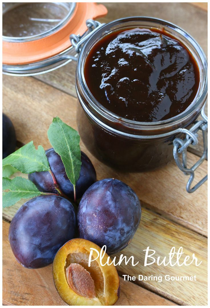 Plum Butter.  Made in the slow cooker for a delicious rich and deep caramelized flavor. daringgourmet.com