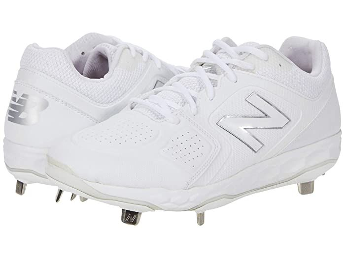 New Balance Smvelov1 Softball White White Women S Shoes Batter Up With The Performance Of The New Balance Smvel In 2020 White Shoes Women New Balance Softball Cleats