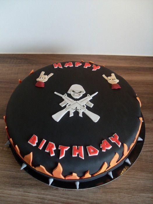 Iron Maiden Metal Taart Cake Taarten Cakes