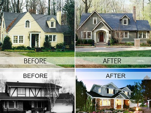 148 best home exterior makeovers images on pinterest for Exterior home renovations
