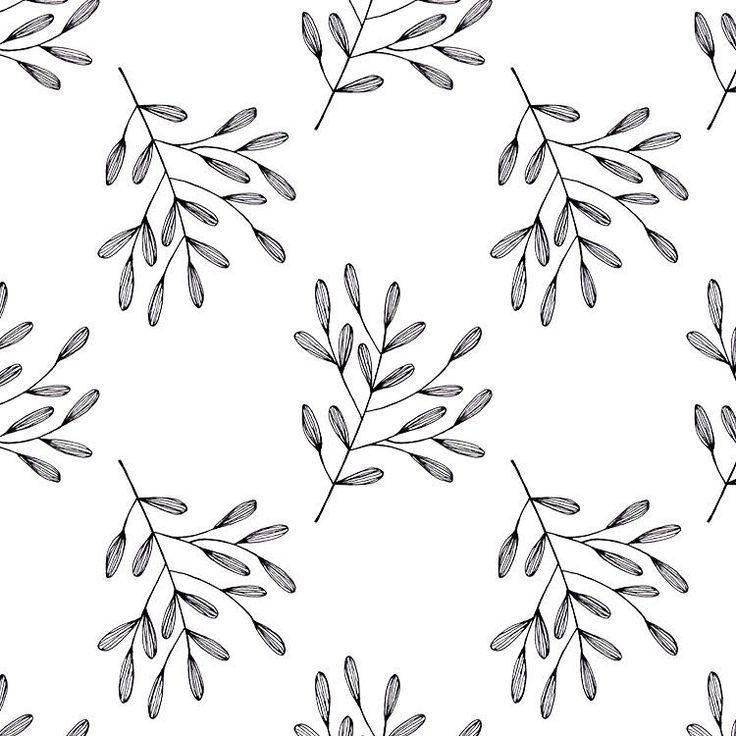 Pattern. #illustration #sketch #fineliner #branch #leaves #botanical
