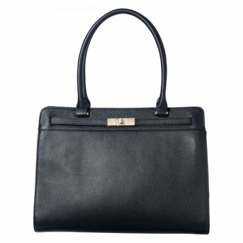 THE REBECCA BAG NAVY An optional adjustable strap adds versatility to our beautiful Rebecca Bag. Shaped from genuine leather and structured to perfection, this piece makes an amazing addition to any work wardrobe.