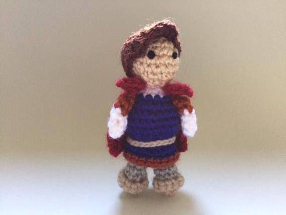 Snow white Prince Crochet Doll Handmade Crochet DollMini