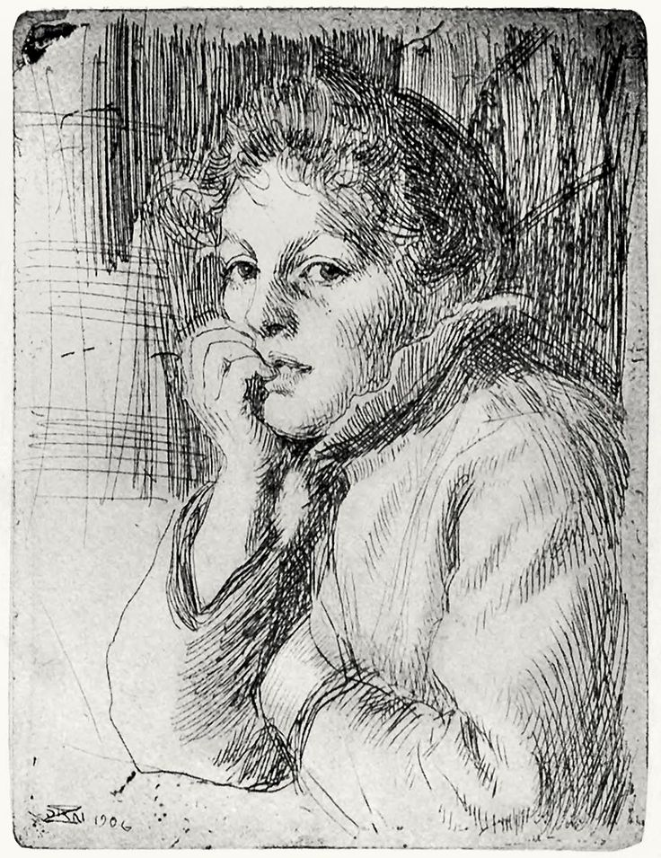 Etching, 1906 // Anders Zorn (1860-1920)