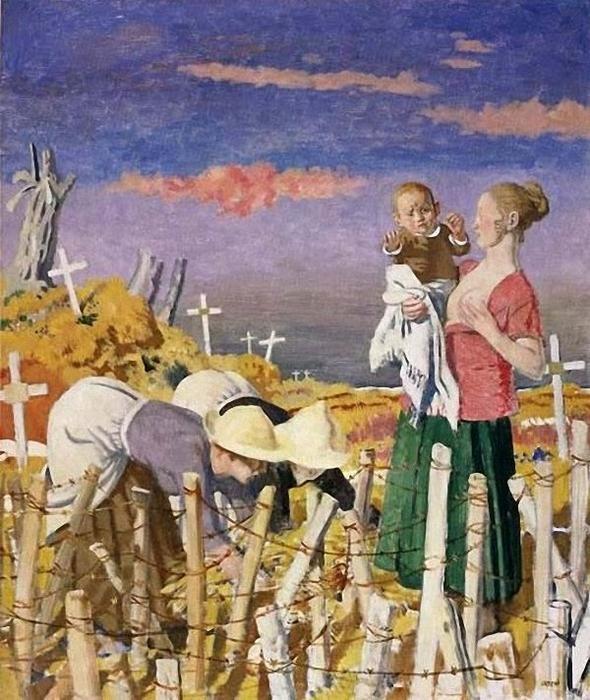 """Harvest""     by     William Orpen (1878-1931, Ireland)"