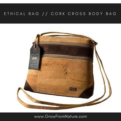 • Check out our Grow Quercus Nigra a stunning bag made from renewable material called cork! Your Vegan choice! Material: #corkfabric • Only at www.growfromnature.com •