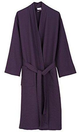 TowelSelections Kimono Waffle Spa Bathroom Robe for Women