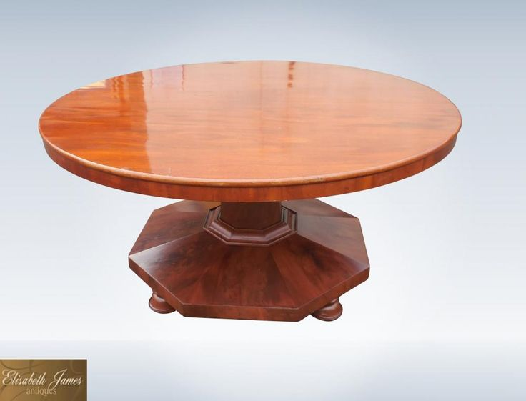 5ft Diameter Post Regency Antique Mahogany Round Dining Table To Seat 8  People