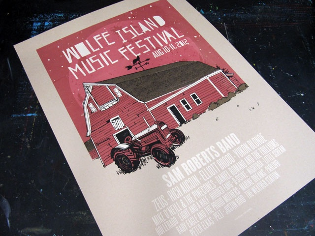 Wolfe Island Music Festival 2012 Poster