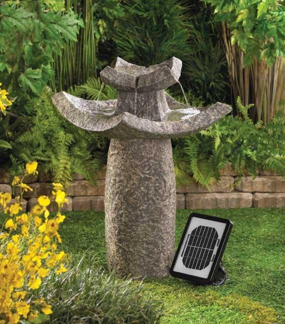 10 best solar power water fountains by serenity health for Fontaine zen exterieur