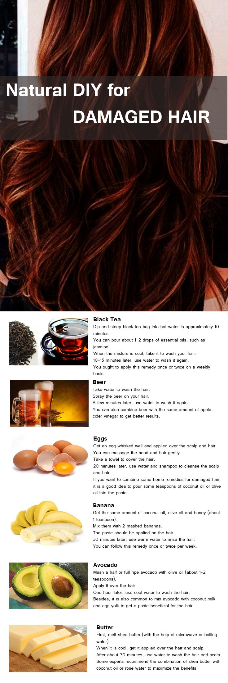 All Natural DIY masks for Damaged hair.