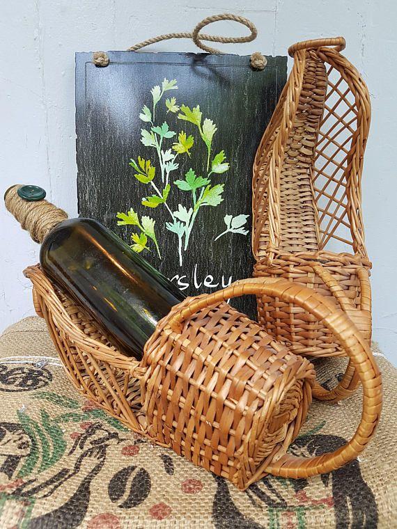 Wicker wine bottle holder wicker wine rack wicker wine