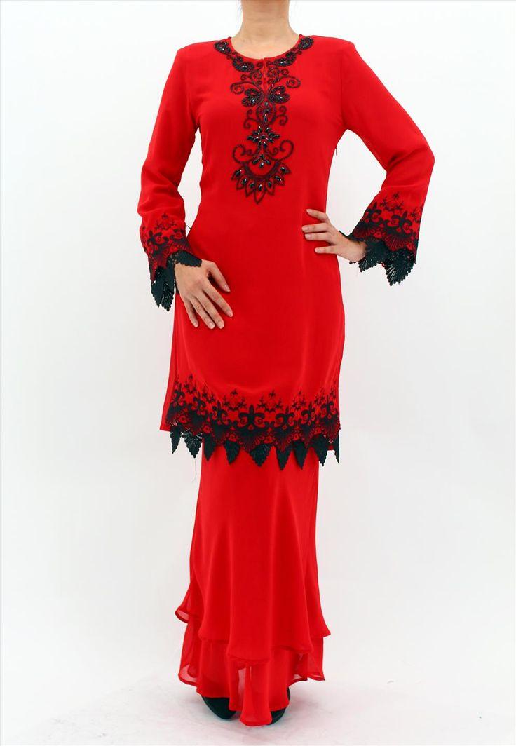 Rasa Sayang Chiffon Lace Baju Kurung Moden Set - 326 (Selangor ...