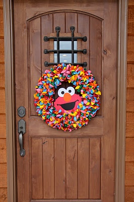 Wreath for Kids Elmo Party