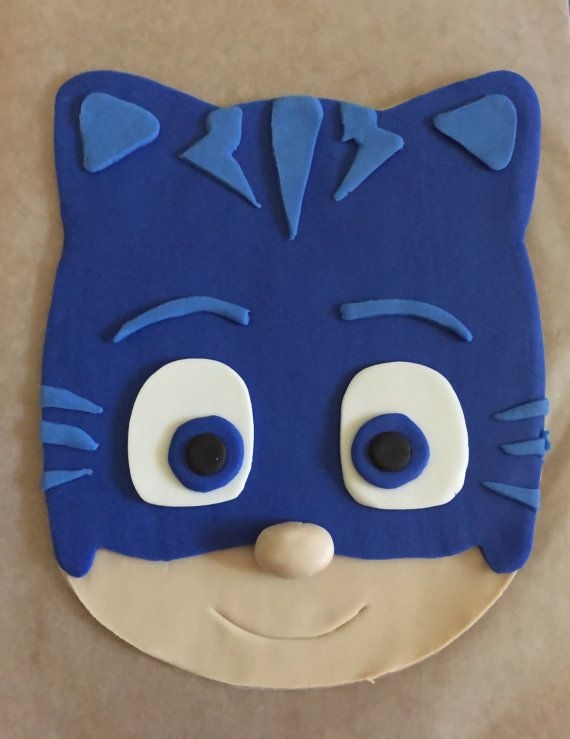 PJ Masks Inspired Cake Topper  Catboy by PeaceLoveandCakeNY