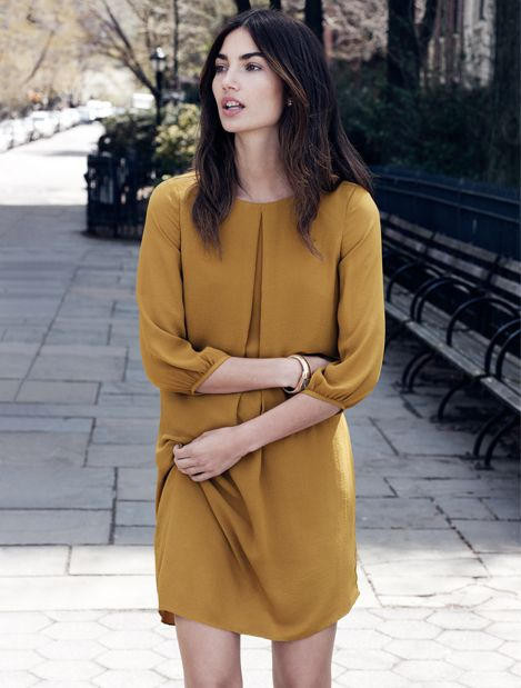 {h&m dress in mustard yellow - under $50 - Fall 2014}
