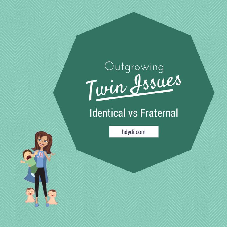 """Parents with older fraternal multiples, is their multiple birth less of an issue as they grow? Parents with identical multiples, what's your experience with """"twin issues"""" over time? Is there a difference?"""
