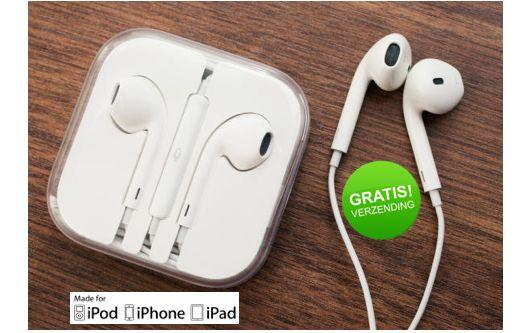 EarPods Oordopjes  Van 39,95 voor maar 15,95 incl.GRATIS verzending  Nieuwste generatie oordopjes  Met afstandsbediening en microfoon  Diepere en rijkere bastonen  Superieur audio en geluidskwaliteit  Comfortabeler bij allerlei verschillende oren  Inclusief opslag en reishoesje  iPhone, iPad (Mini), iPod Nano, iPod Touch  Op voorraad en direct leverbaar  http://www.margedeals.nl