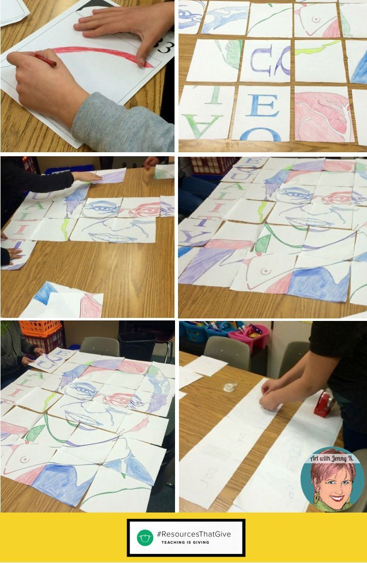 Collaborative portrait posters for Black History Month. This is a meaningful art project that students will connect with. Each student will color one piece of the poster that when complete will show the power of working together in the classroom. The bundle included Rosa Parks, Martin Luther King Jr. , Ruby Bridges, Rita Dove and President Obama.