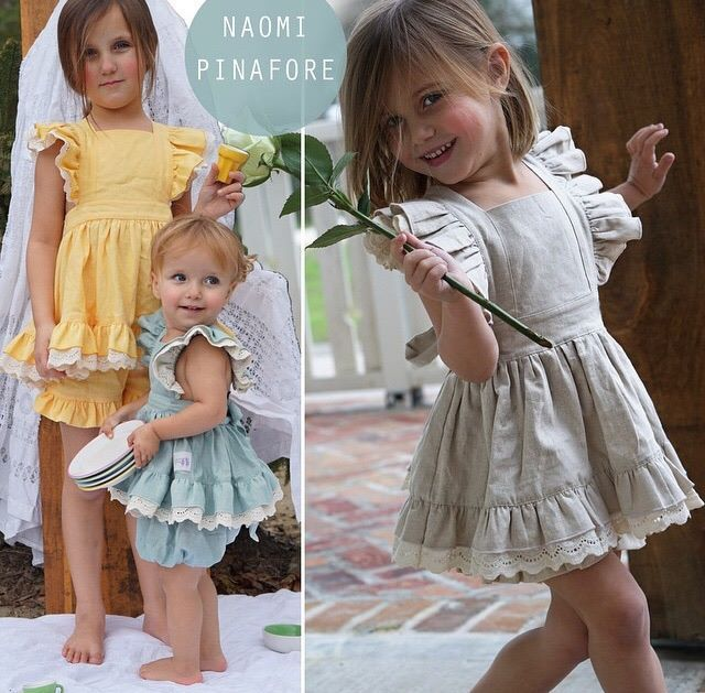 Well Dressed Wolf Naomi Pinafore in Rain (Classic Line) 4T [EUC] $400