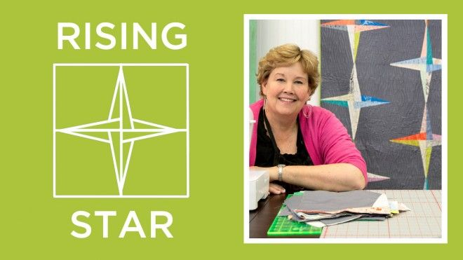 The Rising Star Quilt Video Tutorial.  This one is REALLY clever!