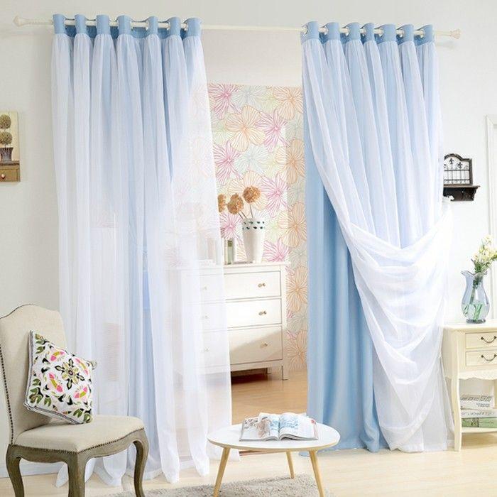 les 25 meilleures id es de la cat gorie double rideaux sur pinterest rideaux de fen tre de. Black Bedroom Furniture Sets. Home Design Ideas
