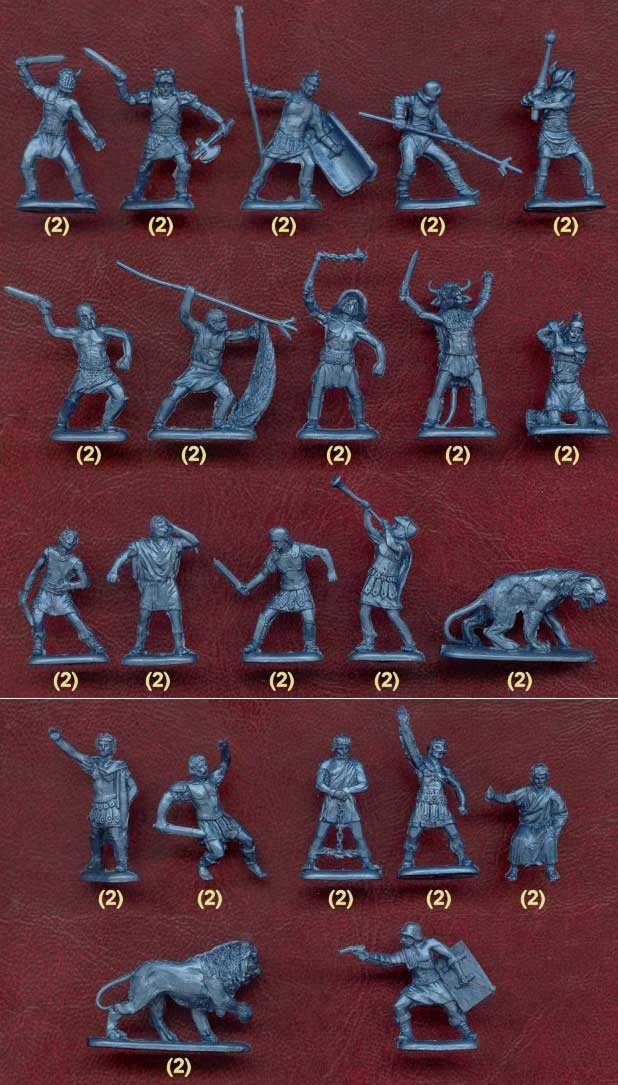 Orion-Haron - Roman Gladiators  -There are Lions, and Panthers! And animal headed people.