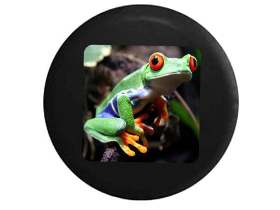 Full Color Bug Eyed Tree Frog Green Blue Red Orange by TheCoverGuy