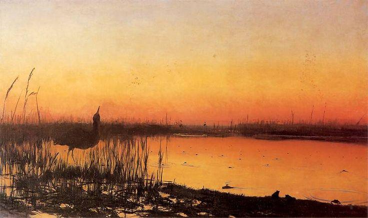 Chełmoński, - Koncert żab - 1890