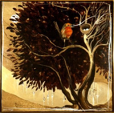 Brett Whiteley, The robin and the moon, 1981