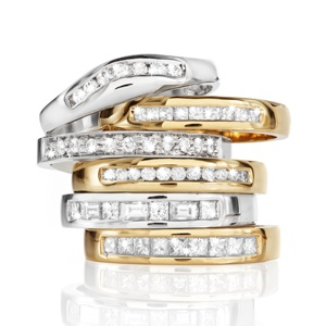 Diamond Wedding Bands - available in white, yellow, rose, platinum...whatever your heart desires
