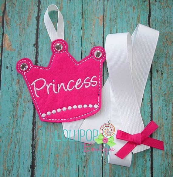 Princess Crown Felt Bow Holder Felt Bow by TheLollipopBoutique, $8.00