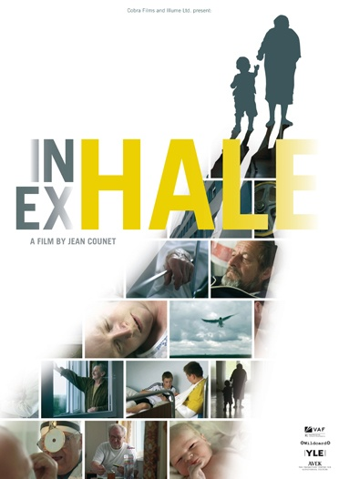 Movie Poster Inhale Exhale. Documentary about life from birth till death in Latvian hospital by Grif Ontwerp