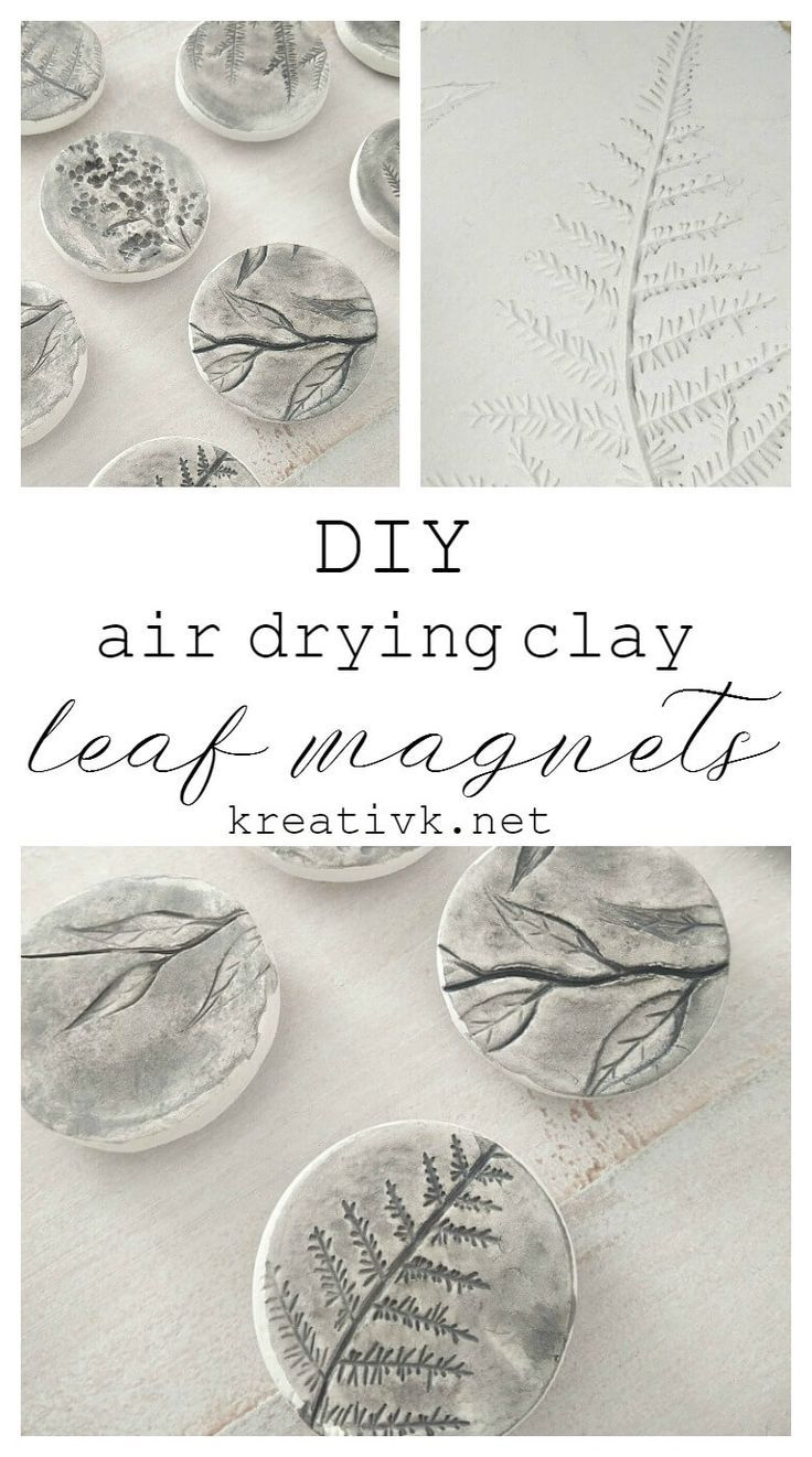 Diy Air Drying Clay Leaf Magnets Northern Feeling Air Dry Clay Projects Diy Air Dry Clay Air Dry Clay