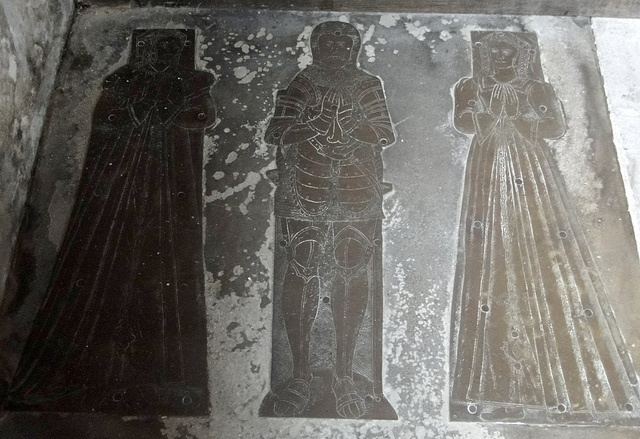 Sefton, Lancashire. Sir William Molyneux, d1548, and his two wives.  Should see if we could get rubbings of these...