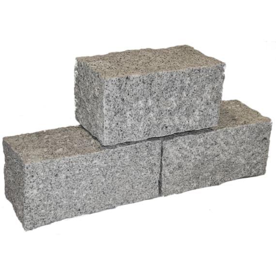Casafino Granit Mauerstein Grau 400 X 200 X 200 Mm 1kg Mauersteine Naturstein Mauern Beete Hangabstutzung Granit Mauersteine Mauerstein Natursteine
