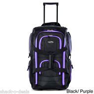 Travel Duffle Bag Carry On Luggage With Wheels Purple Small Men Women