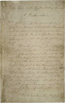 Yesterday marked the 150th anniversary of the Emancipation Proclamation, which formally abolished slavery in the United States and forever changed the course of our nation. Visit the link to view the entire landmark document.