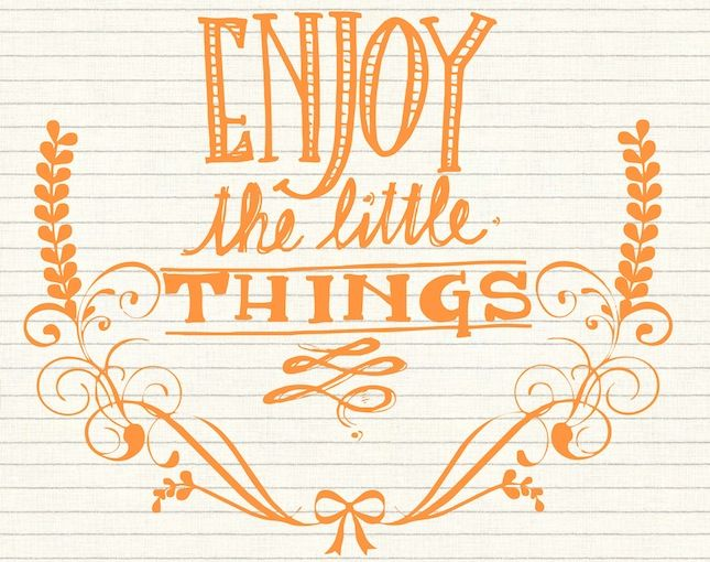 The New Year Project: Enjoy The Little Things
